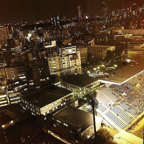Nightphotography Tokyo Aoyama Rugby Overtime