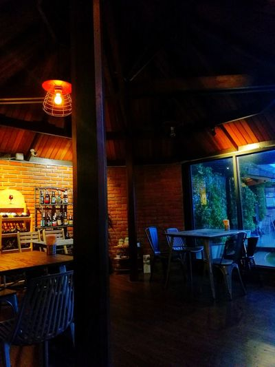 Chair Table Indoors  No People Illuminated Night Architecture Lopburi Thailand Lopburi Thai Lopburi Thailand Tasala
