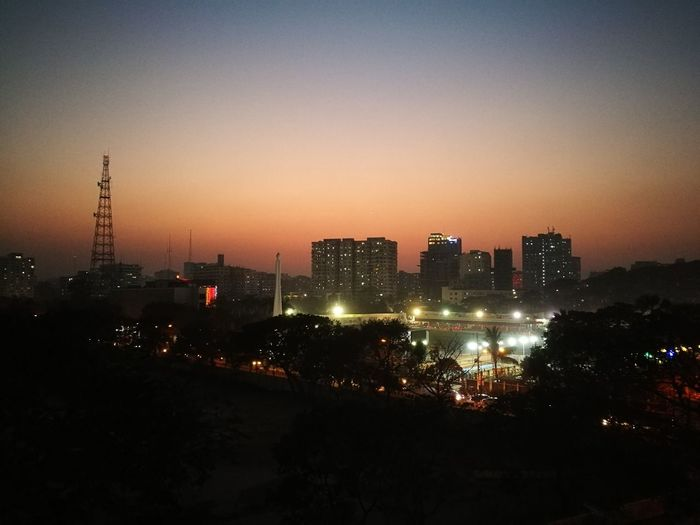 Urban Skyline City Sky Building Exterior Night Outdoors Cityscape Architecture City Lights Adapted To The City