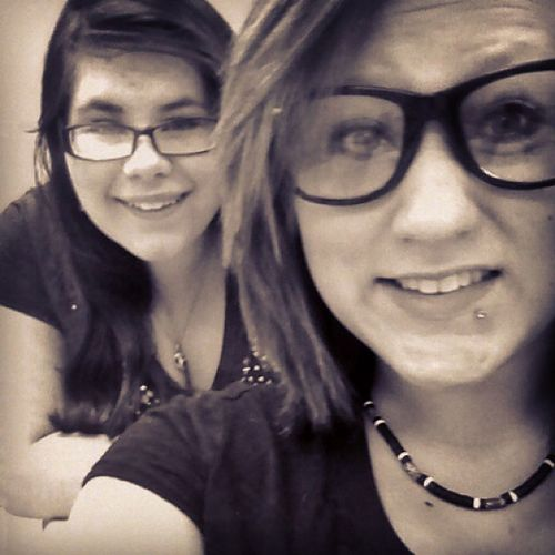 Just felt the need to put this on here haha Me Tori Bestfriends Firstperiod gottaloveher cute smiles glasses greatday loveyou