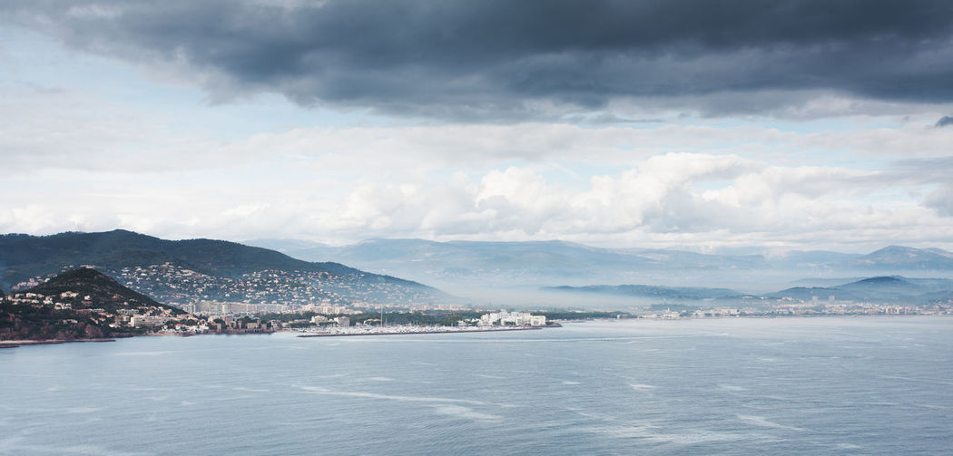 Beauty In Nature Cloud - Sky Côte D'Azur Dark Skies France Landscape Moody Sky Mountain Ocean Outdoors Riviera Scenics Sea Sky Water