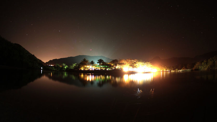 Beauty In Nature Brazil Camping Clear Sky Itamambuca Lake Mountain Nature Night No People Outdoors Reflection Scenics Sky Tranquil Scene Tranquility Ubatuba Sp Water