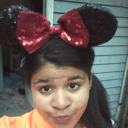 I just felt like wearing my Minnie ears Disneyworldwithdrawals