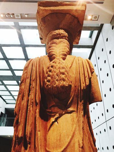 Kikladhes at acropolis museum Human Representation Sculpture Male Likeness Low Angle View Indoors  No People Close-up Acropolis Museum Kikladhes Kiklades Athens Greece