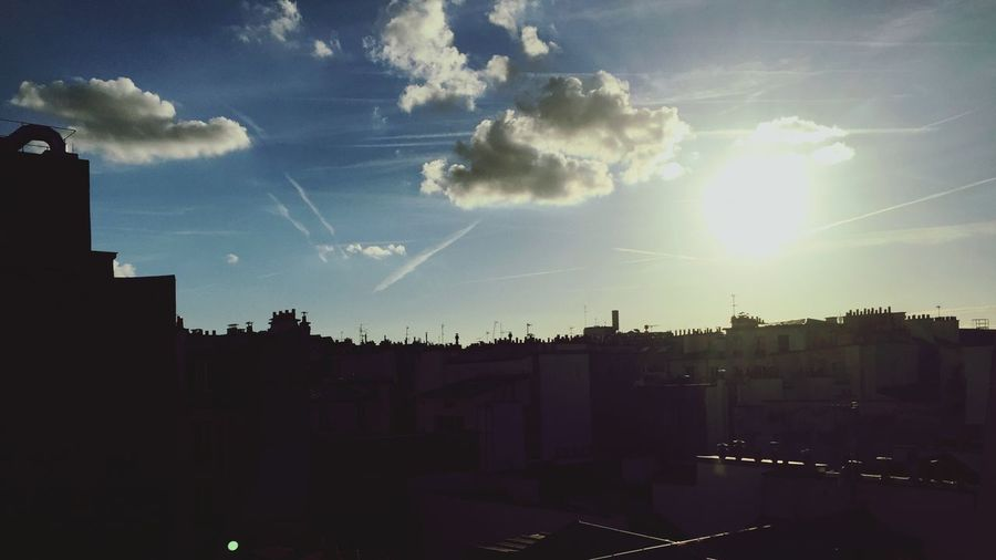 Sunset Paris Rooftop Enjoying The View