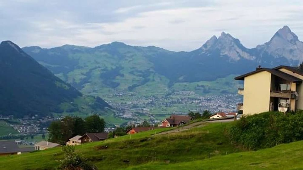 Switzerland Mountain House Hut Mountain Range Architecture Built Structure Landscape Chalet Grass Building Exterior Residential Building Nature Outdoors Tree Scenics No People