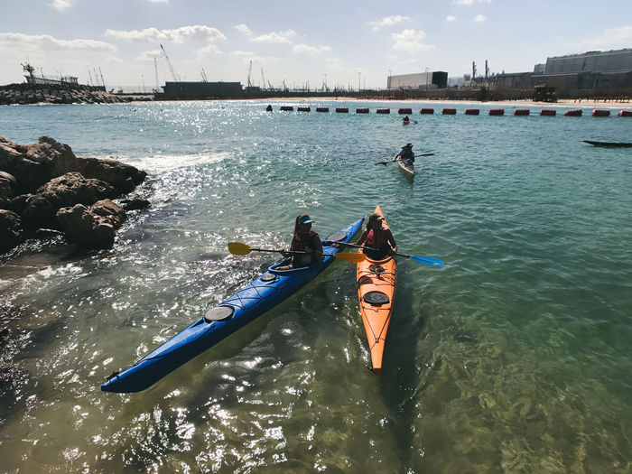 ShotOnIphone IPhone7Plus Large Group Of People Leisure Activity Lifestyles Men מיימומנט Nature Nautical Vessel Oar Outdoors People Real People Sea Shotoniphone7plus Sky Togetherness Transportation Water Waterfront Women מייאייפון7 מייבתגלים מייים מייספורט