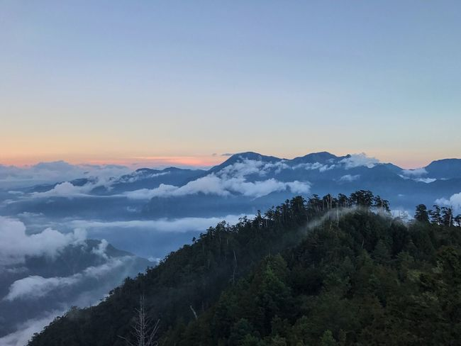 Sunset Mountain Nature High Angle View Mountain Taiwan Astonishing IPhoneography IPhone