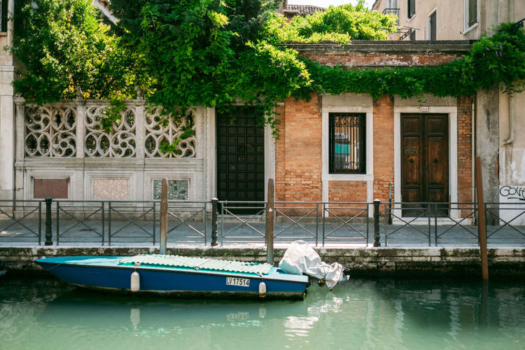 Architecture Building Exterior Built Structure Nautical Vessel Building Tree Plant House Water Day Reflection No People Transportation Nature Window City Outdoors Mode Of Transportation Entrance Canal Luxury Canals And Waterways