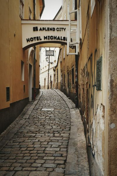 Alley of Bratislava Cobblestone Streets Oldtown Oldcity Bratislava, Slovakia Built Structure City Building Exterior Day No People