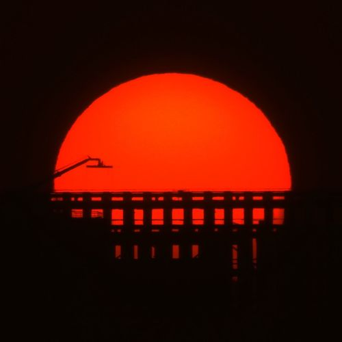 Astronomy Circle Dark Geometric Shape Heat - Temperature Illuminated Nature Night No People Orange Color Outdoors Red Shape Silhouette Sky Space Technology