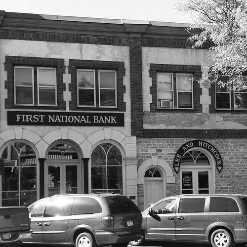 This is where Jesse James was shot in the face. ...or at least that's how I heard that it went down. Bankrobber