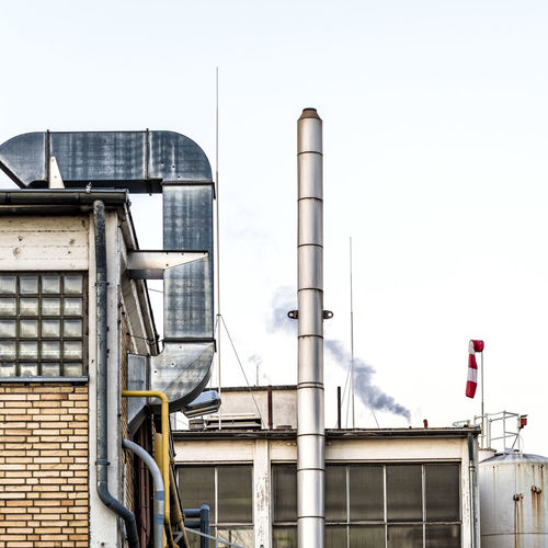 Day Factory Industrial Building  Industry No People Outdoors Pipes Smoke Stack Tubes