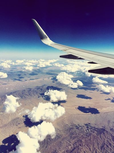 Aerial Shot Arizona American Airlines Desert Window Seat IPhoneography White Puffy Clouds Finding New Frontiers Flying High