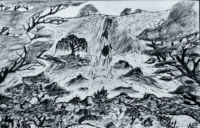 Drawing Enjoying Life Nature Waterfall Art Getting Inspired Zaap'sdraws
