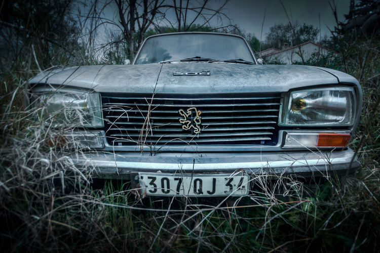 Abandoned Abandoned Places Car Deterioration HDR Mode Of Transport Outdoors Urban Exploration Urbex Wide Angle