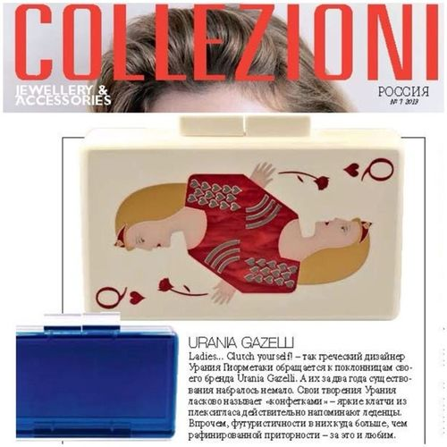 At Collezzioni Russia this month!!! Thank you Russia for your love and support! ❤? Collezzionirussia Collezzioni Uraniagazelli Julyissue accessories queenofhearts bluecobalt bestsellers gouraniagazelliorgohome