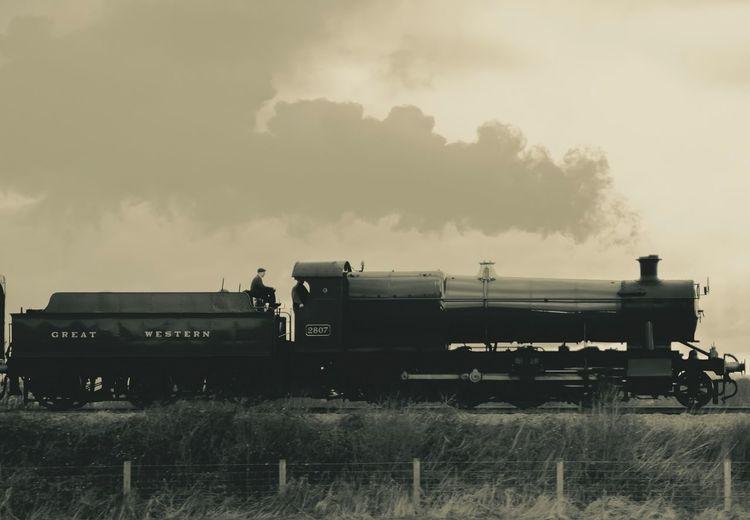 Steam Train Sky
