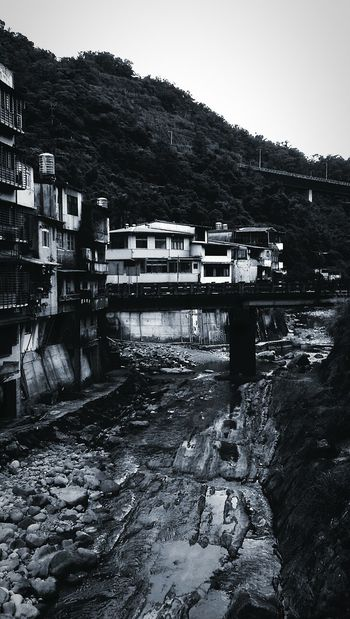 Water Built Structure No People Outdoors Day Town Blackandwhite River Village View Village Town View summer trip