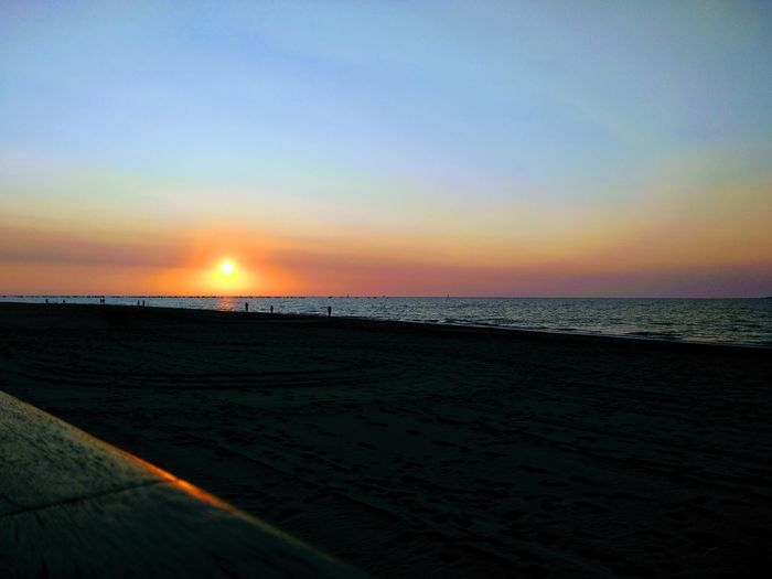 Beach Beauty In Nature Clear Sky Horizon Over Water Idyllic Nature No People Outdoors Sand Scenics Sea Silhouette Sky Sun Sunset Tranquil Scene Tranquility Water