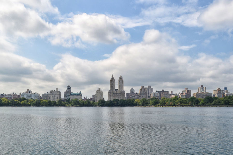Water Urban Skyline City Cityscape Architecture Cloud - Sky Travel Destinations Scenics River No People Outdoors Skyscraper New York New York City Central Park Clouds Sky And Clouds Skyporn Nature Day