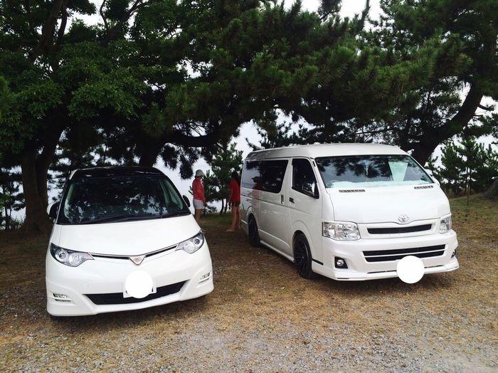 Férias de verão...nosso carro e da cunhada🚘🚙 Taking Photos Relaxing Hiace Toyota Toyota Previa Toyota Estima Verão Carro Férias Passeio  Enjoying Life Minivan