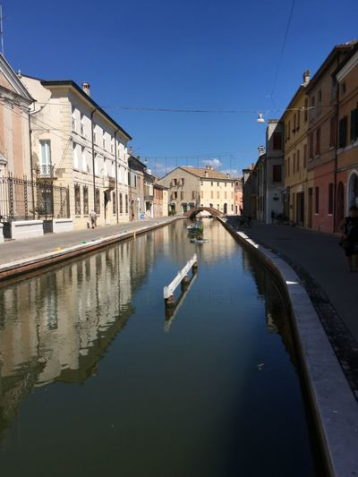 Street Architecture Water City Sky Italy City Life Blue Canal Italia No People Comacchio Italyiloveyou Building Exterior Built Structure Comacchiocity