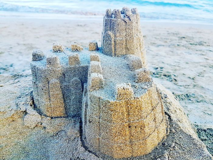 Beach No People Close-up Sea Outdoors Water Nature Sand Sand Beach Sandcastles