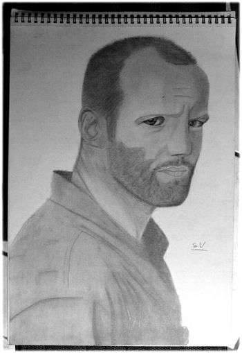 By Sam Jason statham with pencils on A3 paper Jason Statham Portrait Drawing Art Gallery My Art Art Followme Doodle Desenho Dessin