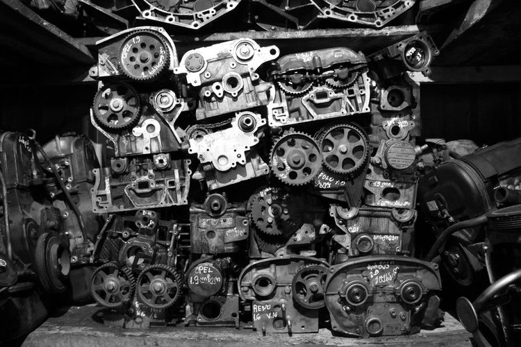 Close-up Collection Day Gear Indoors  Large Group Of Objects Machine Part Mechanic No People Technology Variation
