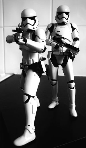 Star Wars The Force Awakens Stormtrooper Black And White Models Figures My First Pic On EyeEm Not The Best Picture Mobilephoto First Eyeem Photo
