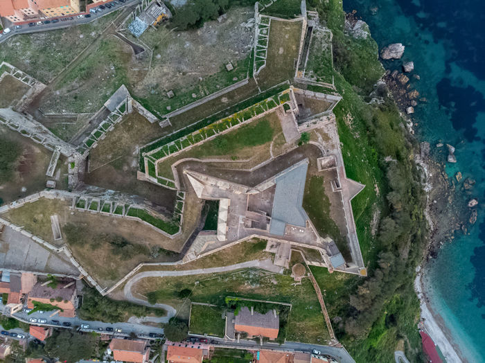 Architecture Built Structure Building Exterior Building House No People City High Angle View Nature Residential District Roof Day Aerial View Water History Outdoors Environment The Past Travel Destinations Dji Drone  Italy Tuscany Island Elba Island
