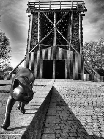 Gradierwerk Bad Sassendorf Graduation House Germany Built Structure Day Architecture Building Exterior Outdoors Animal Themes Sky Cat Blackandwhite Black And White Bronze Sculpture