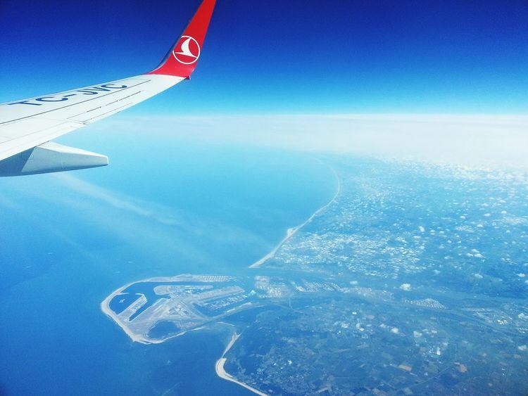 Aerial Shot Thy Turkishairlines Rotterdam From An Airplane Window PhotoByMuratGul