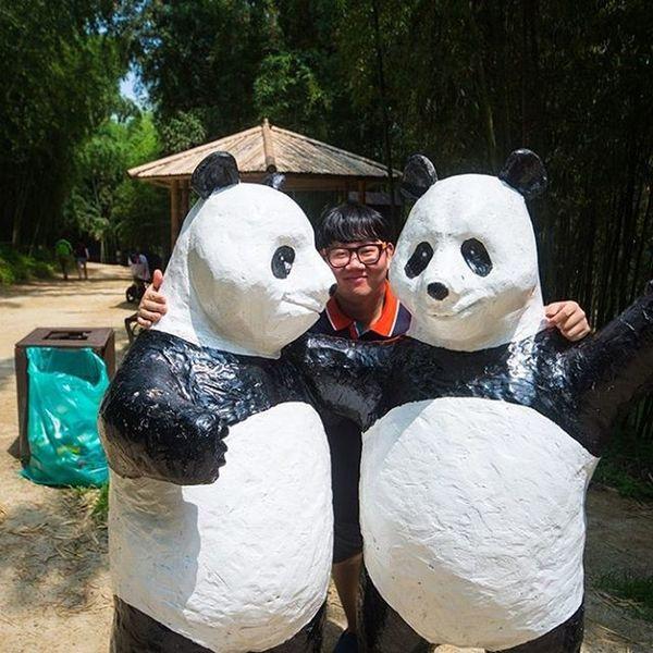 팬더 개똑같아 오른쪽형제인듯 베프됨 담양 죽녹원 Travel Photographer_suhyeon 여행 일상 인물 니콘D610 Nikond610