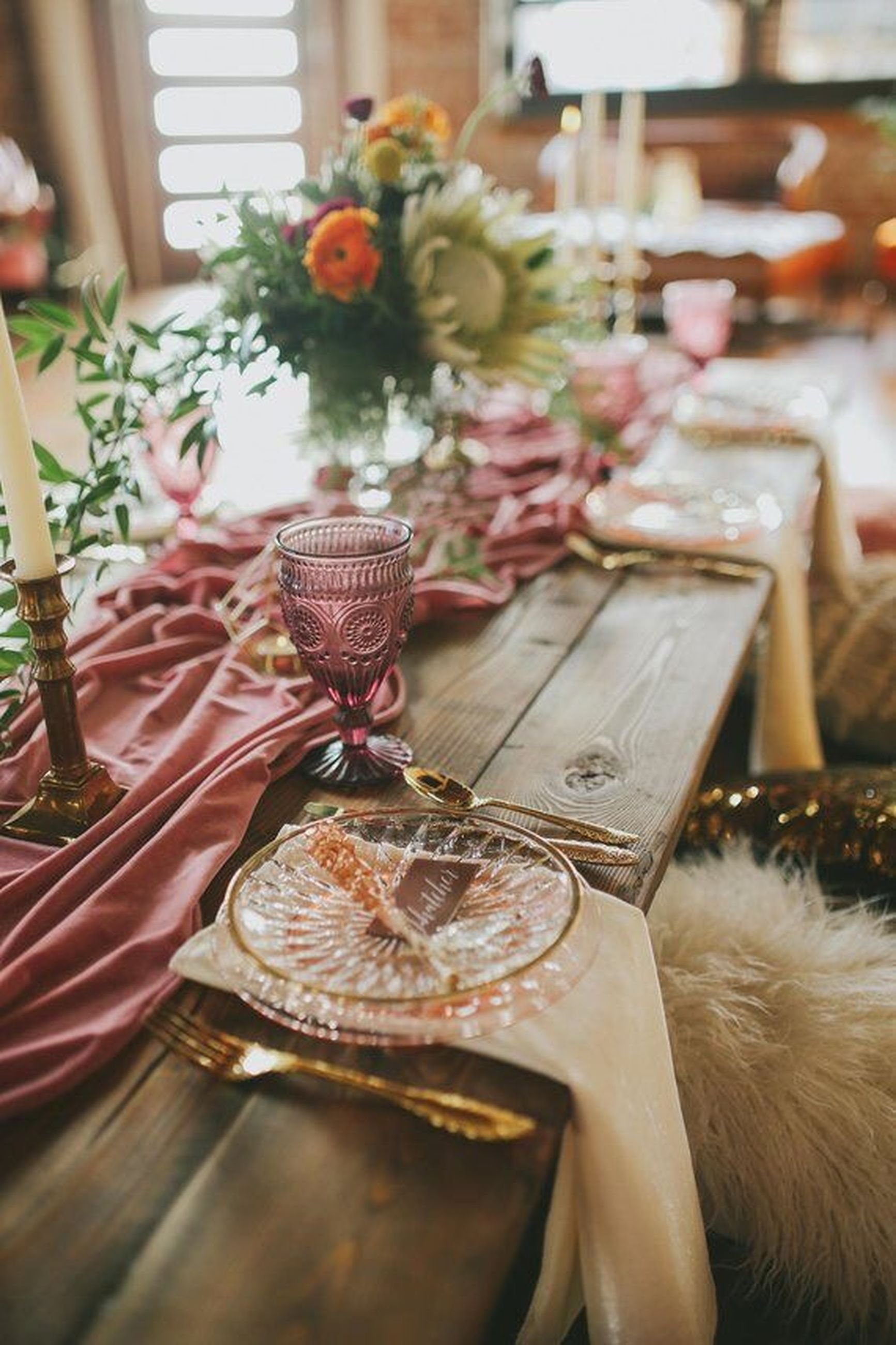 table, flower, indoors, flowering plant, plant, chair, no people, selective focus, freshness, seat, food and drink, furniture, dining table, absence, food, close-up, plate, glass, vase, nature, setting, crockery, flower arrangement, tea cup