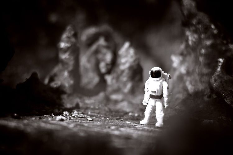 Astronaut at space