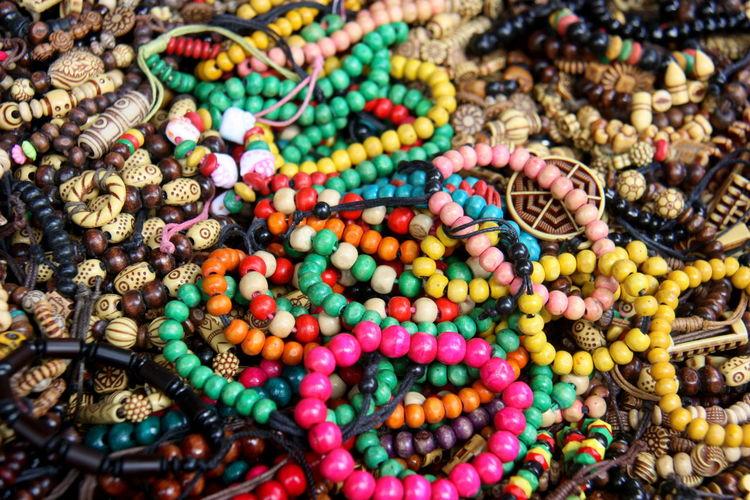 Close-up of bracelets