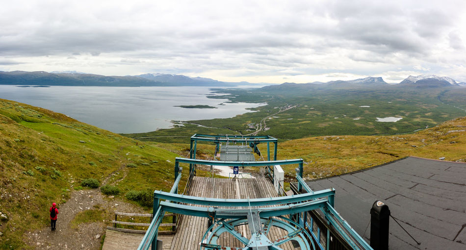 Abisko Nationalpark Cable Car Chairlift View Lapland Lapland Landscape Lappland Panorama Ropeway Sweden Abisko Built Structure Chair Lift Chairlift Lake Lake View Landscape Linbana Mountain No People Torneträsk Tranquility Turquoise Water