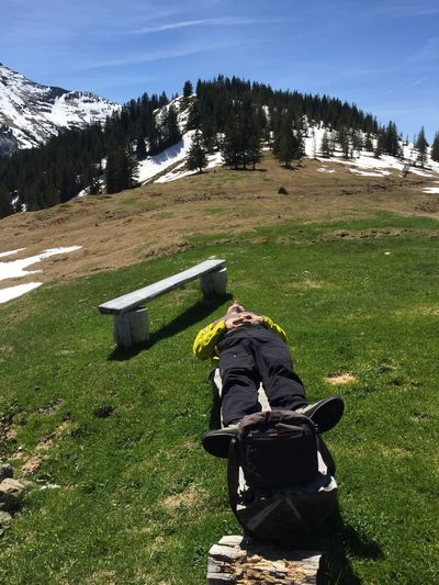 Night Night, Sleep Tight Get some rest after a straining hiking tour and enjoy the pure sun in the Mountains Sleeping Rest Leisure Activity Leisure Time Mountains Switzerland Swiss Alps Sleep Sun Bathing Sunbathing My Year My View Hiking