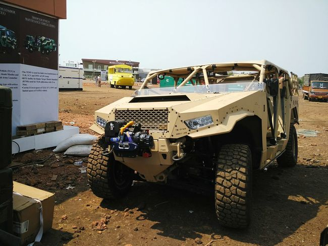 Polaris DAGOR Ultra Light Combat Vehicle kept for display at Defexpo India 2016 in Goa. Polaris Polaris DAGOR ULCV Ultra Light Combat Vehicle Defence India Indian Army Military All Terrain Vehicle Automobile Truck Army Military Jeep Defexpo Defexpogoa2016 Goa Goa India
