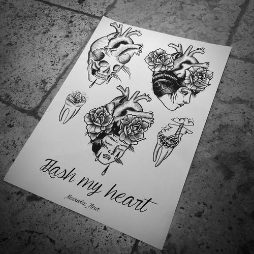 Flash dispo ! Neotraditional Inkedboy Tattooflash Flash TattooApprentice Tattooartist  Tattoo Draw Drawing