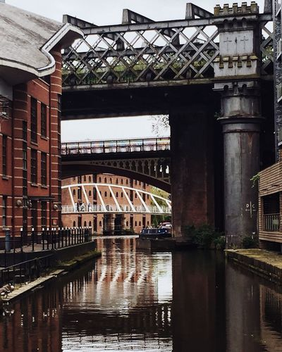 Layers of transport, Castlefield Arch Arch Bridge Architectural Column Architecture Bridge Bridge - Man Made Structure Built Structure Canal Castlefield City City Life Connection Engineering Igersmanchester Industrial Photography River Sky Transportation Urban Transportation Urbantransport Water