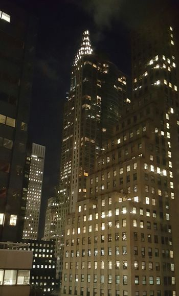 Manhattan Traveling Deceptively Simple Taking Photos Nightphotography Night Lights Looking Up