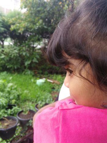 Child Childhood Girls Tree Headshot Pink Color Close-up