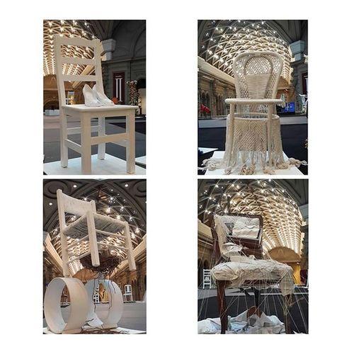 Sillas Intervenidas Centroculturalborges Bsas Galeriaspacifico Artgallery ArtWork Arte Chair Art Instacollage White Instalation Intervention Artgram