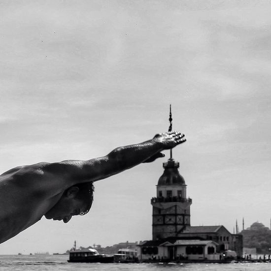 Maiden Tower Istanbul Swimming Jumping