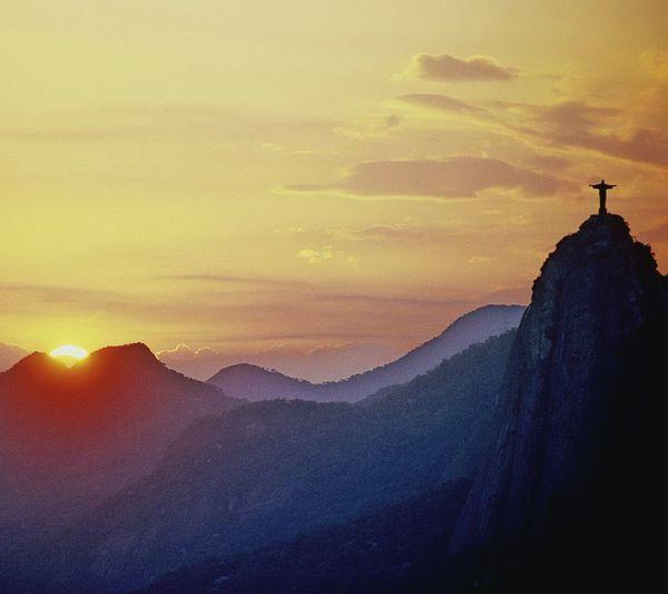Rio De Janeiro Nature Cristo Redentor Beauty In Nature Mountain Religion