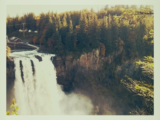 The beautiful Snoqualmie falls. Nature Waterfall Pacific Northwest