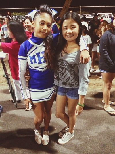 Promised her I'd watch her cheer ? great job behbeh? Bestfrannnn💍
